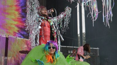 Just one surreal moment from the Flaming Lips' set at Outside Lands Music Festival