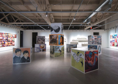 Erik Kessels, <i>in almost every picture</i>, installation view; Courtesy Pier 24 Photography