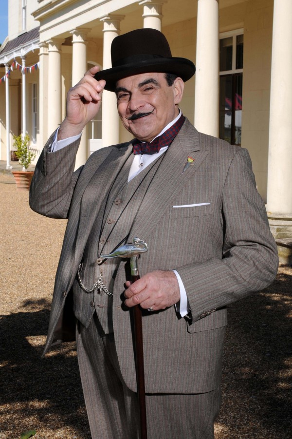 David Suchet has been playing Poirot since 1989. The actor has grown into the role, including perfecting the twinkle in his eye