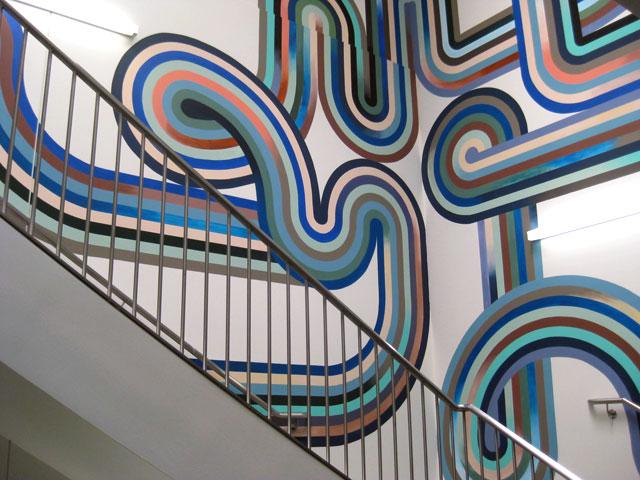 Detail: Stairwell mural by Serena Mitnik-Miller, Facebook HQ, Menlo Park, CA