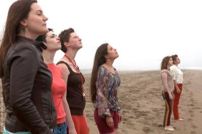 Erika Bakse, Annabelle King, Miranda Hanrahan, Emily Ludlow, Kailah Cayou and Susannah Lee in Pleiades.