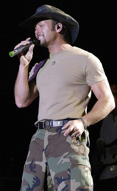Tim McGraw; Photo source:  Wikimedia Commons