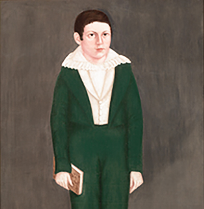 """Portrait of a Boy in Green"" by  Brewster, John, Jr."