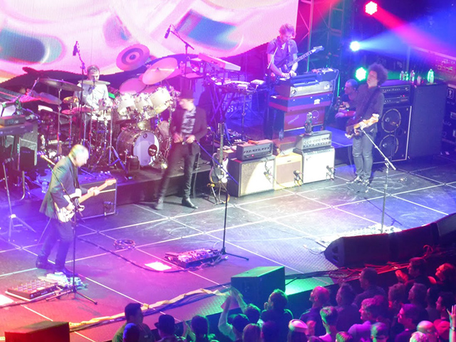 Beck and band in action during Friday's show at the Nob Hill Masonic Auditorium