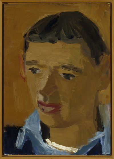 David Park, <i>Portrait of Richard Diebenkorn</i>, circa 1953; oil on canvas; 21 x 15.25 in. Courtesy the Oakland Museum of California.