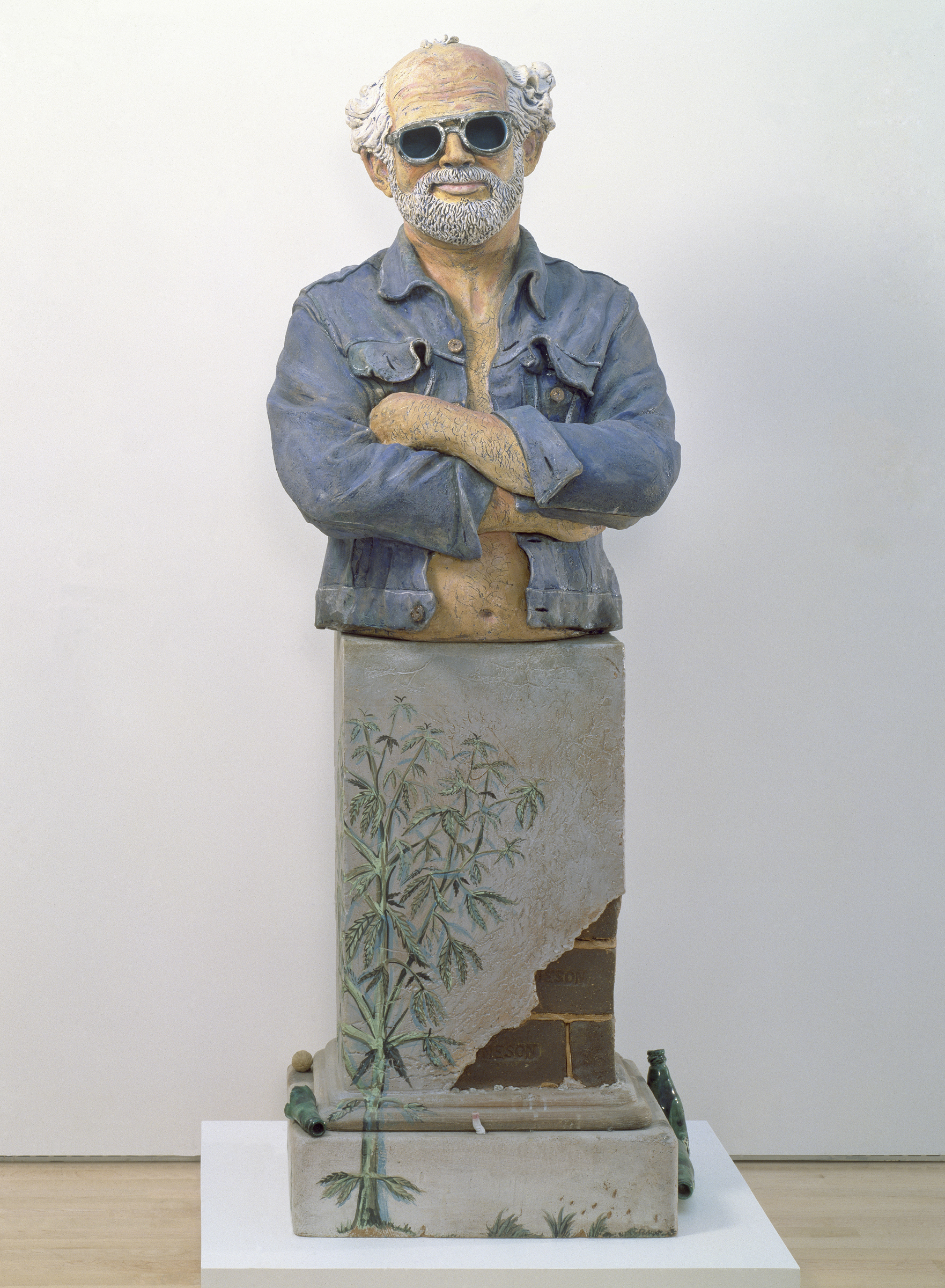 Robert Arneson, <i>California Artist</i>, 1982; stoneware with glazes; 68 1/4 in. x 27 1/2 in. x 20 1/4 in. Courtesy of San Francisco Museum of Modern Art. © Estate of Robert Arneson