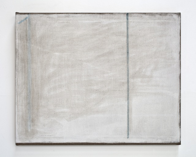 John Zurier, <i>Afternoon (S.H.G.)</i>, 2014; distemper on linen; 28 x 35 in. Courtesy of the artist and Peter Blum Gallery, New York.