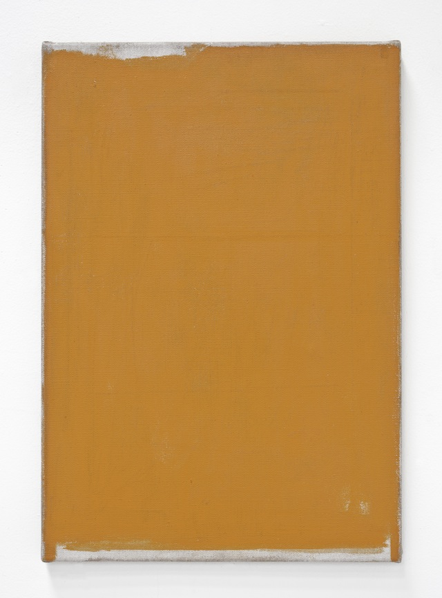 John Zurier, <i>Héraðsdalur 12 (Lighthouse)</i>, 2014; distemper on linen; 25 5/8 x 17 3/4 in. Courtesy of the artist and Peter Blum Gallery, New York.
