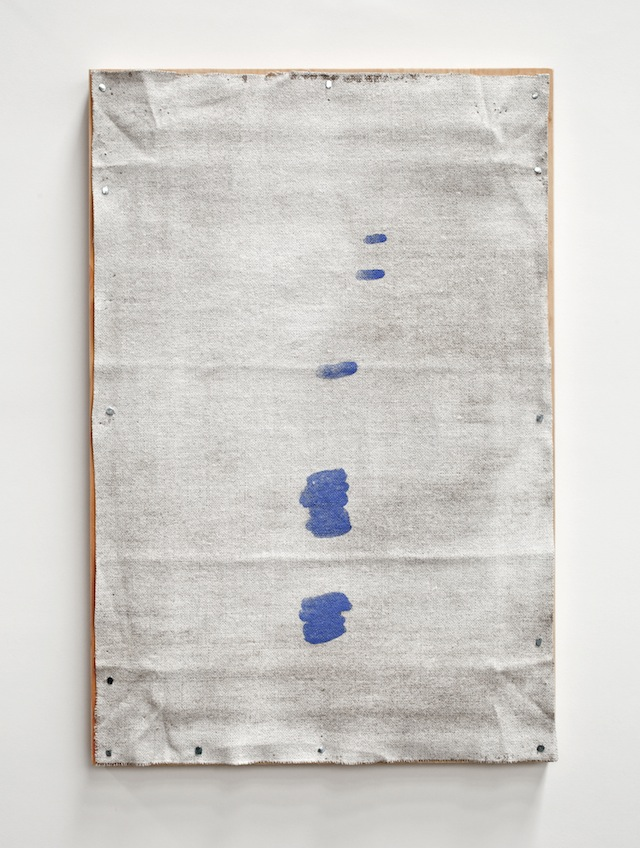 John Zurier, <i>Icelandic Painting (12 Drops)</i>, 2014; watercolor on linen on panel; 16 1/2 x 11 in. Collection of the artist.