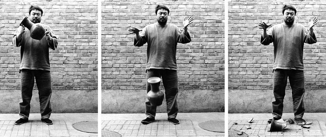 Ai Weiwei, Dropping a Han Dynasty Urn, 1995; Courtesy Art 21, WNET, New York
