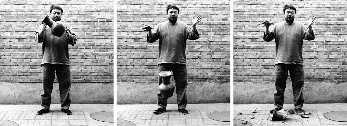 Ai Weiwei, Dropping a Han Dynasty Urn, 1995; Courtesy Art 21, WNET, New York