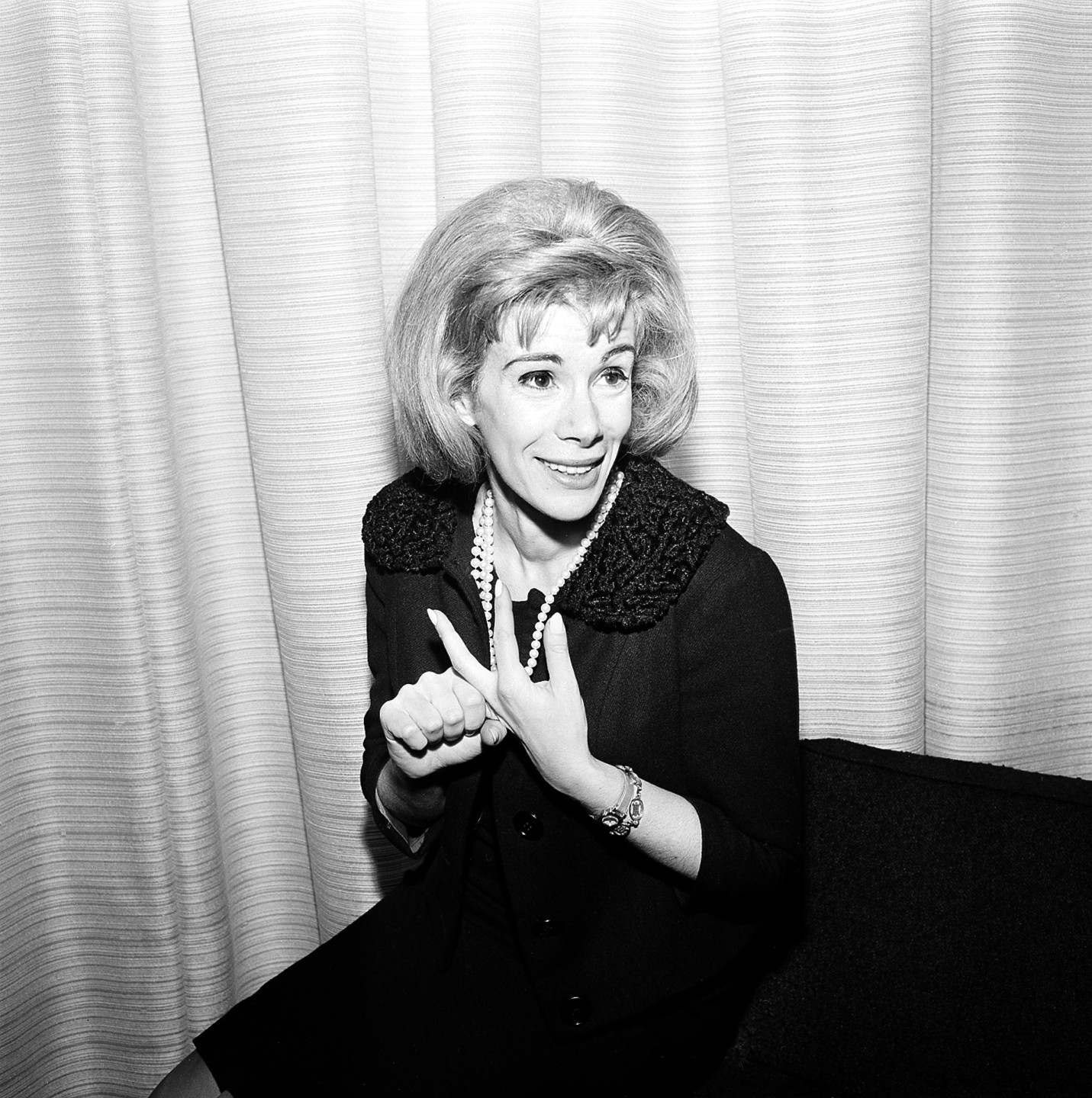 Joan Rivers in 1965. She began appearing on television variety programs like <em>The Ed Sullivan Show</em>.