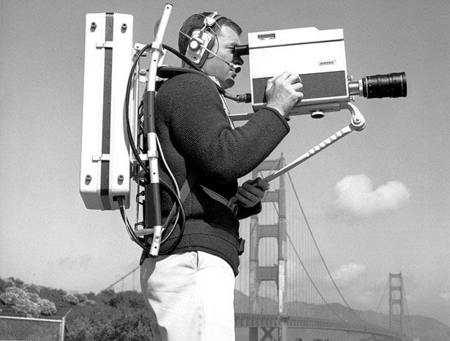 "Early video gear; Source: <a href=""http://waxinandmilkin.com/post/90847836/vr-3000-portable-quadruplex-vtr-by-ampex-1967"">waxin and milkin</a>"