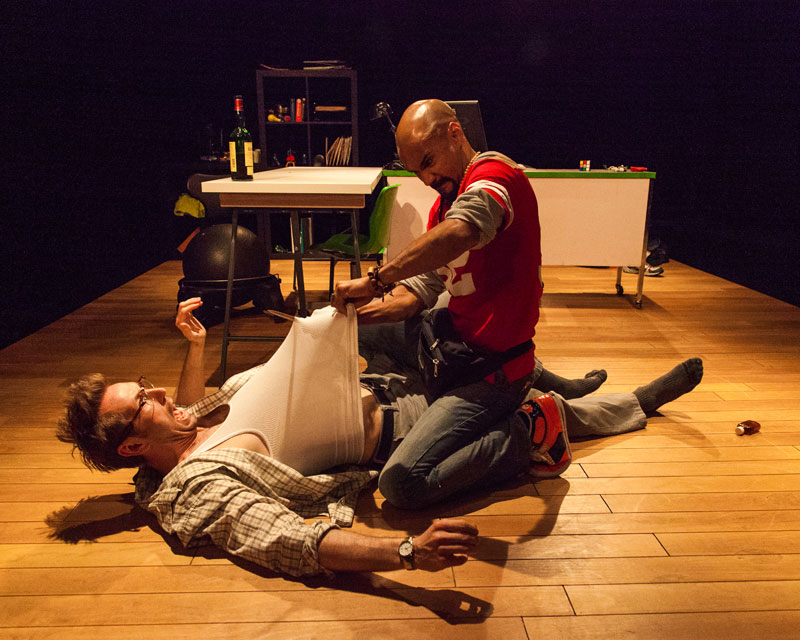 Walker Hare and Luis Vega in Campo Maldito at the 2014 San Francisco Fringe Festival; photo: Will Given.