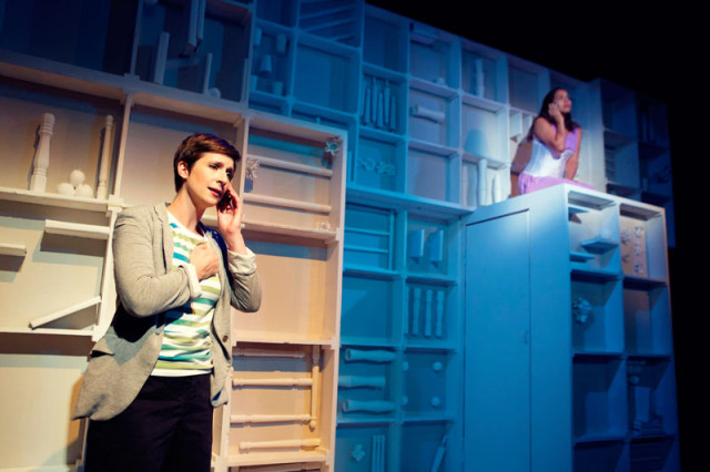 Kathryn Zdan and Lauren Spencer in Crowded Fire Theater's world premiere of The Late Wedding.