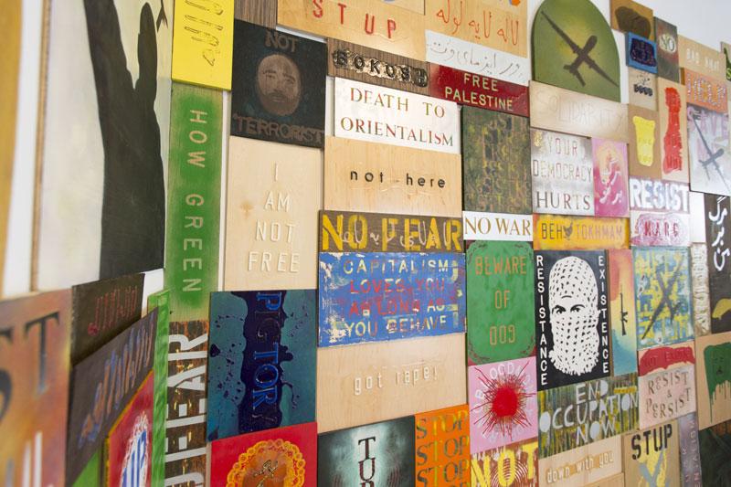 Ali Dadgar, Revolusign installation view, 2014