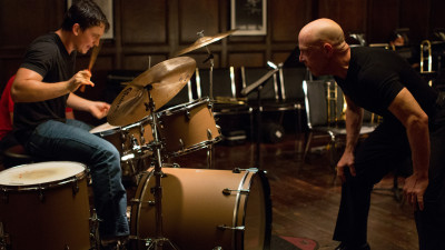 Miles Teller and J.K. Simmons face off in Damien Chazelle's impressive drumming-as-sport film, Whiplash