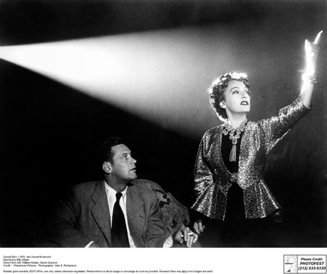 Promotional picture for Sunset Boulevard  (1950)   Directed by Billy Wilder Shown from left: William Holden, Gloria Swanson