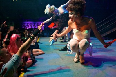 Performers on stage during Trannyshack's 2011 tribute to Madonna