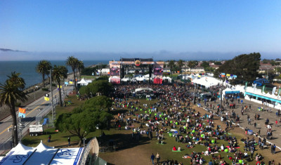 The view from the Ferris wheel at the Treasure Island Music Festival, 2013; Photo by Gabe Meline