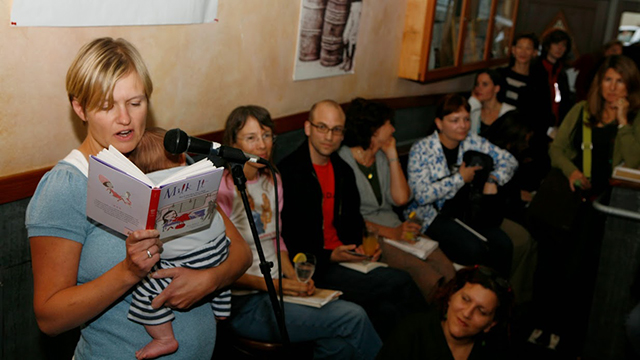 An evening of Mommy Lit during Litquake's Lit Crawl held in San Francisco's Mission District.  Photo by Shelley Eades