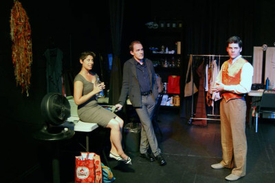 Kat Bushnell, Justin Gillman and Nathan Brown in No Nude Men Productions' Pastorella.