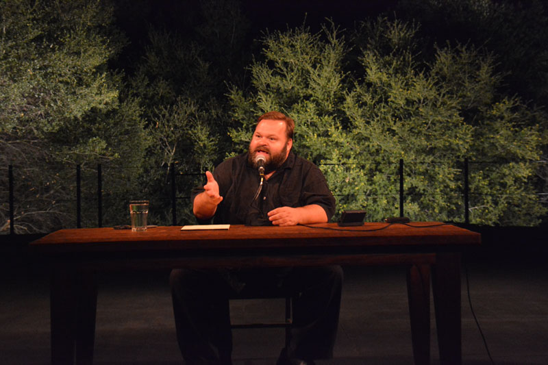 Mike Daisey in The Great Tragedies at California Shakespeare Theater.