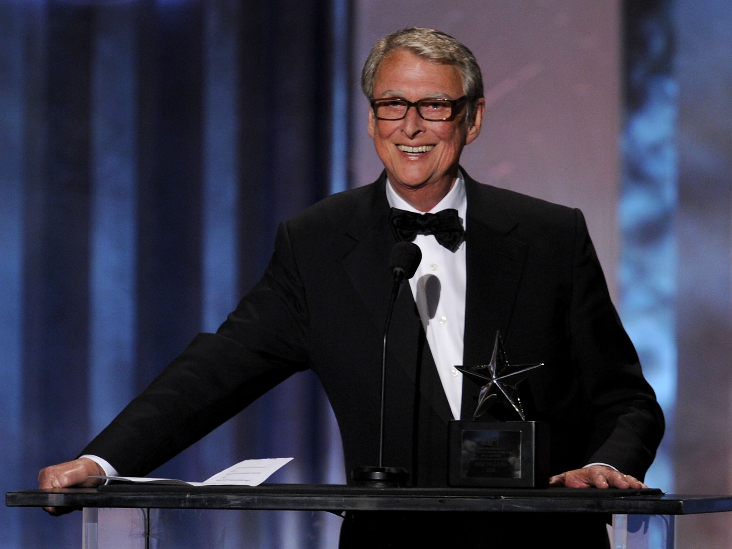 Mike Nichols was an ultimate Hollywood insider who won every major show business award directing for stage, film and TV. But his life in America began as an immigrant from Germany. Nichols was honored with an AFI Life Achievement Award in June 2010.