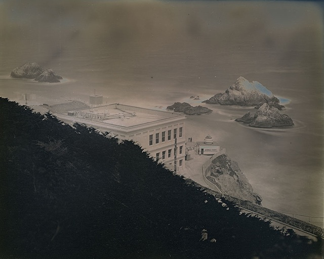 Binh Danh. <i>Cliff House and Seal Rocks from Sutro Heights Park</i>, 2014; daguerreotype. Courtesy of the Artist and Haines Gallery.