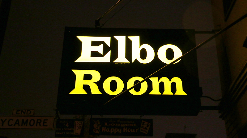 The sign for the Elbo Room