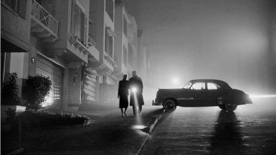 "Fred Lyon ""Foggy night, Land's End, San Francisco, 1953"""