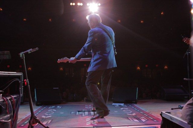 "Glen Campbell performing on ""The Goodbye Tour."""