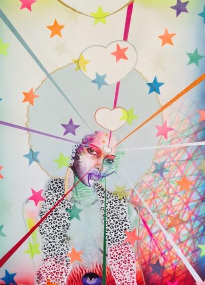 """""""Light Purple"""" by Chor Boogie, aerosol enamel on canvas, 2014"""