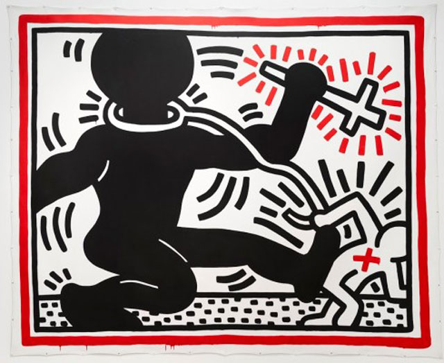 Keith Haring, Untitled (Apartheid), 1984; c. Keith Haring Foundation