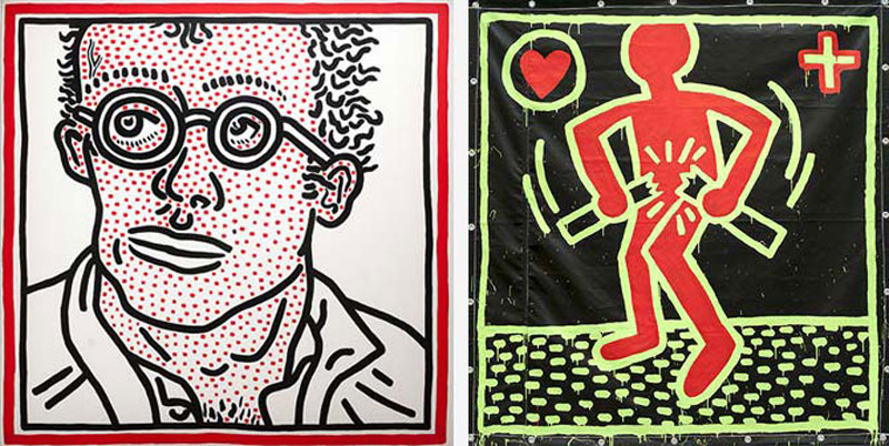 Keith Haring Self Portrait The de Young s  Keith Haring