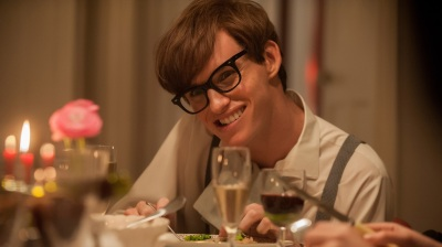 Eddie Redmayne plays astrophysicist Stephen Hawking in The Theory of Everything