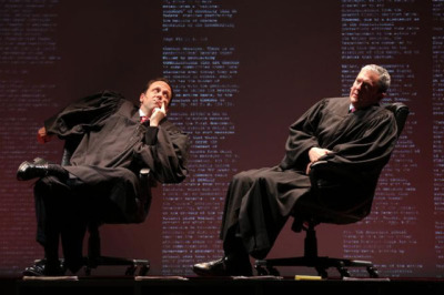 Mike Iveson and Vin Knight as Supreme Court justices in Arguendo at Z Space; photo: Joan Marcus.