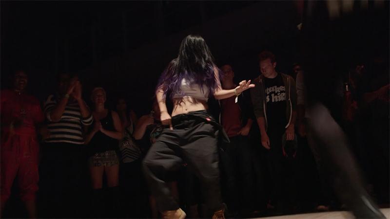 A dancer at Clas/sick Hip Hop: 1993 Edition