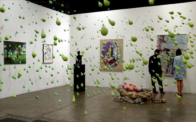 Installation by Urs Fischer at Art Basel; Photo by Cherri Lakey