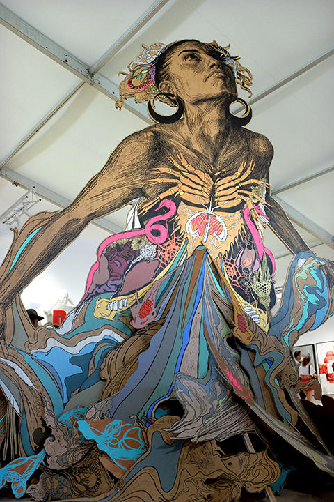 Artwork by Swoon at Scope, Miami; Photo by Cherri Lakey
