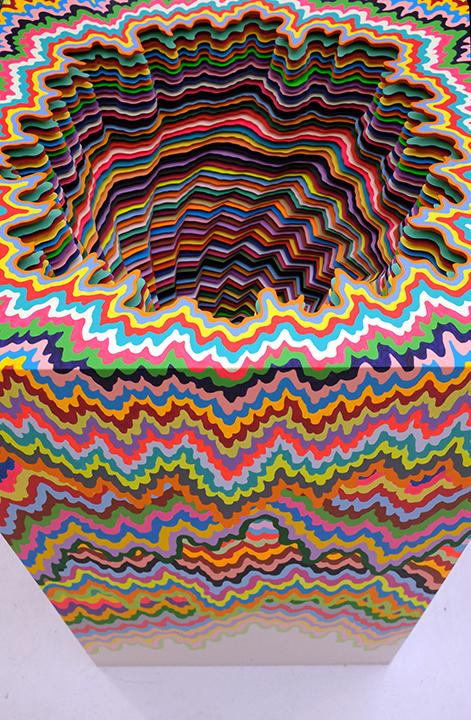 Artwork by Jen Stark at Untitled Art Fair, Miami; Photo by Cherri Lakey