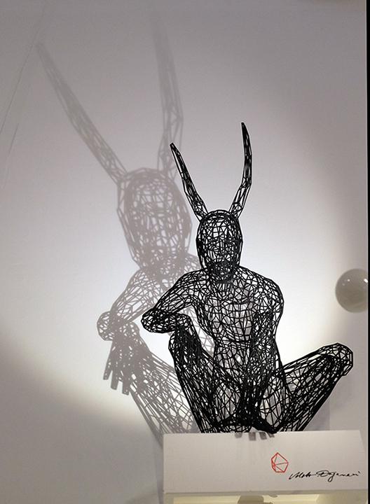 Artwork by Moto Waganari at Art Miami; Photo by Cherri Lakey