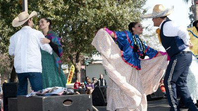 "Ballet Folklorico Orgullo Mexicano, pictured, Mariachi Uclatlan, and others perform ""El Bracero,"" a mariachi opera, at Lincoln Oval Park on Saturday, November 15, 2014. ""El Bracero"" tells the story of Mexican nationals who came to the United States as guest workers. With the United States involved in WW II, guest workers took the place of the men going off to war."