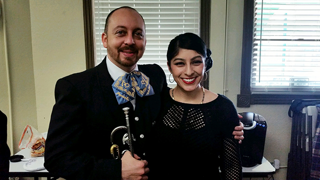 Rosalinda Verde, right, wrote the mariachi opera in about a week this summer.