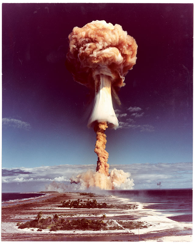 Commissariat a l' energie atomique, Atomic trial on Mururoa atoll, Tahiti, 1970; Courtesy The Archive of Modern Conflict and Pier 24 Photography, San Francisco