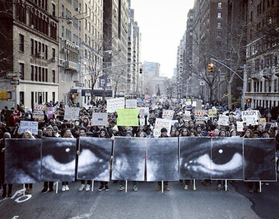 "At the ""millions march"" with the eyes of Eric Garner; Photo source: insideoutproject"