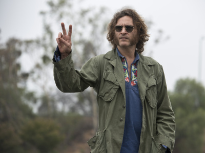 "Joaquin Phoenix stars as Larry ""Doc"" Sportello, a private investigator with a pot smoking habit  in Inherent Vice, Paul Thomas Anderson's film adaptation of the novel by Thomas Pynchon."
