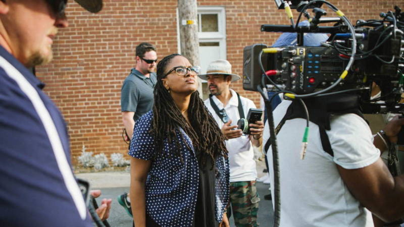 Director Ava DuVernay on the set of 'Selma'