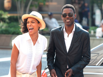 Rosario Dawson (left) plays Chelsea Brown, a New York Times reporter who spends a day interviewing Rock's character, Andre Allen.