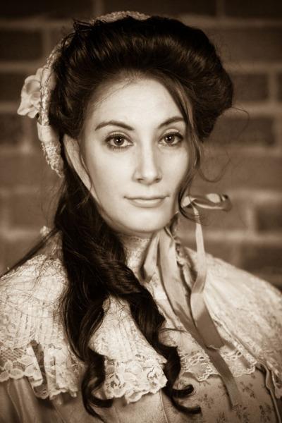 April Krautner plays Juliana in Jolly Juliana, or Her Fruitcake Has Nuts. Photo by Eric Chazankin.